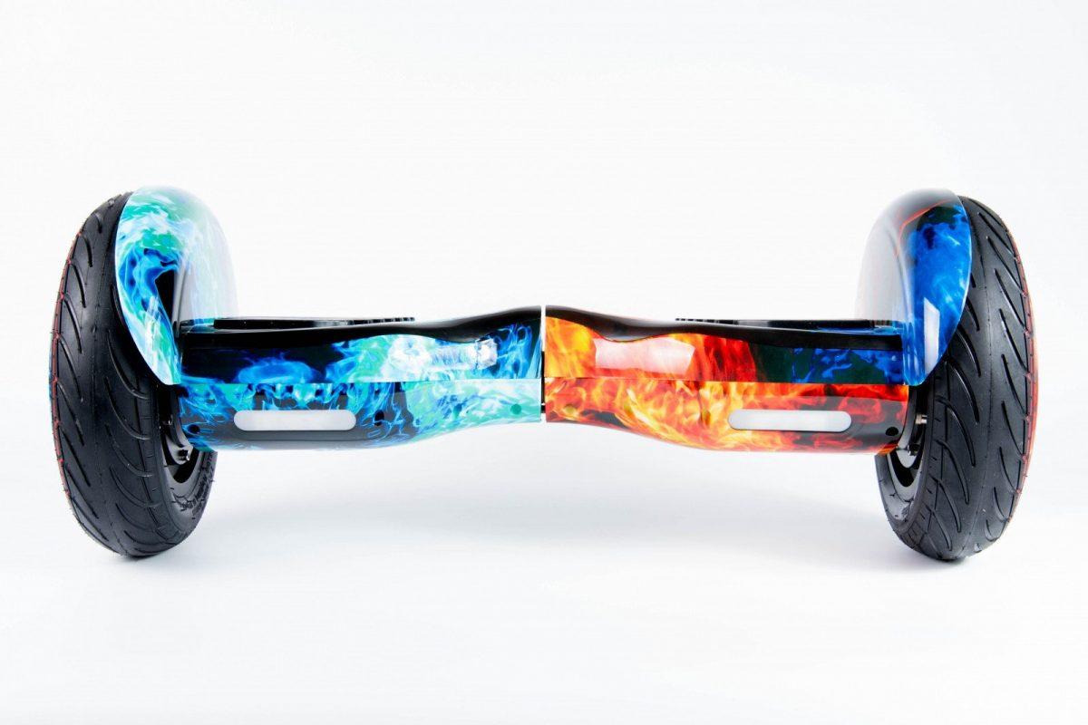 Гироскутер Smart Balance SUV Красно-Синий Огонь 10.5 PRO + Самобаланс + TaoTao